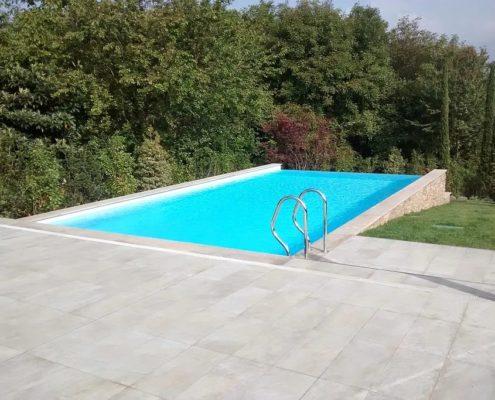 costruzione piscina interrata infinity-pool avigliana (TO) 1