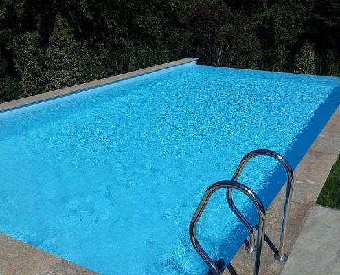 costruzione piscina interrata infinity-pool avigliana (TO) 2
