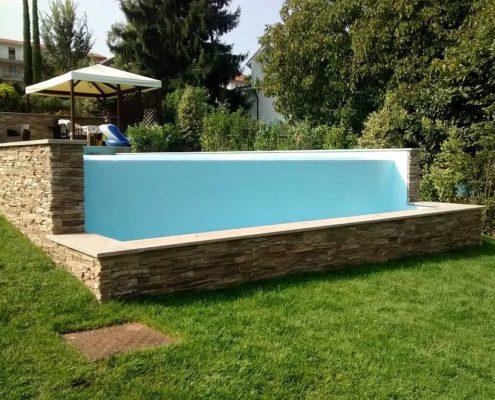 costruzione piscina interrata infinity-pool avigliana (TO) 3