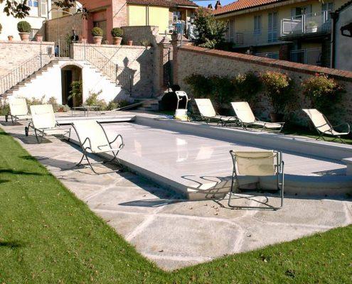 costruzione piscina interrata collina di Torino 09