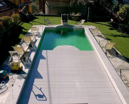 costruzione piscina interrata collina di Torino 06