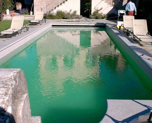 costruzione piscina interrata collina di Torino 02