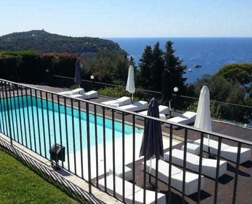 costruzione piscina interrata costa azzurra Francia 06