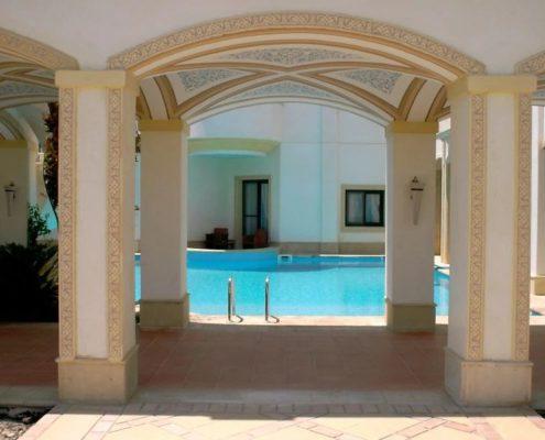 costruzione piscina interrata stile egitto 03