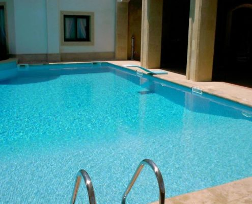 costruzione piscina interrata stile egitto 12