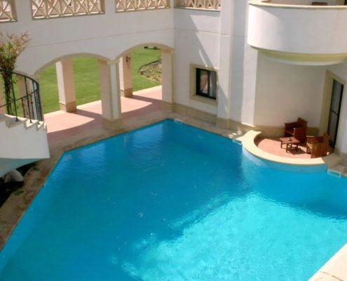 costruzione piscina interrata stile egitto 10