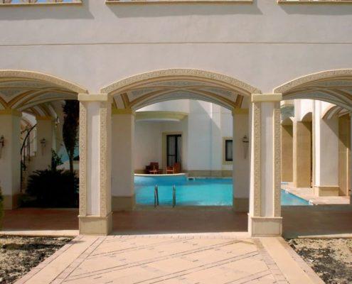 costruzione piscina interrata stile egitto 09