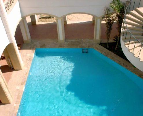 costruzione piscina interrata stile egitto 07