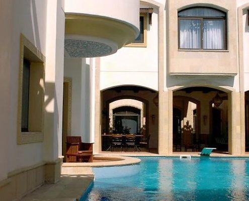 costruzione piscina interrata stile egitto 05