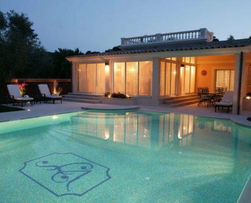 costruzione piscina interrata cap ferrat Francia 09